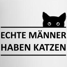 844b4f2c7931 Katzen T-Shirts   Mit lustigen Katzen-Motiven bedruckte Shirts und  Geschenke für Katzenfreunde. Echte Männer haben Katzen