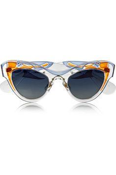 Miu Miu   Painted cat eye acetate sunglasses @netaporter