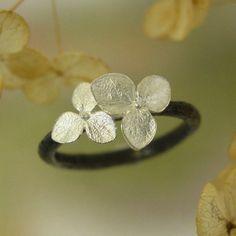 Hydrangea Blossom Ring by PatrickIrIaJewelry