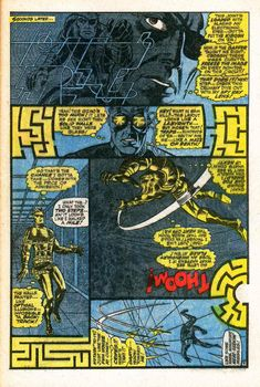 Strange Tales page A dramatic example of the rule breaking Jim Steranko brought to comics. It's a maze and as you solve it, the comic page rotates. Comic Book Artists, Comic Artist, Comic Books Art, Nick Fury, Jim Steranko, Strange Tales, Comic Book Panels, Marvel Comic Universe, Classic Comics