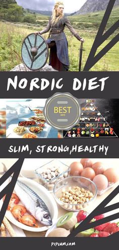 The Nordic Diet (Vikings Diet). This article talks about a healthy eating guideline modeled by the known historical information on how Vikings ate. Healthy Eating Guidelines, Healthy Diet Tips, Paleo Diet, Scandinavian Diet, Medieval Recipes, Viking Recipes, Viking Workout, Nordic Diet, Viking Food