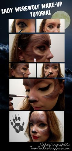 Lady Werewolf make-up tutorial for Halloween. Very simple but looks great!