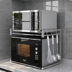 Four Micro Onde, Microwave, Kitchen Appliances, Studio, Products, Kitchen Grey, Kitchen Rails, Kitchen Organization, Diy Kitchen Appliances