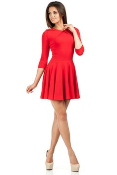 Attractive red dress with mini length