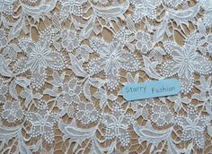 lace fabric wedding bride lace hollowed crochet  by StarryFashion, $22.00