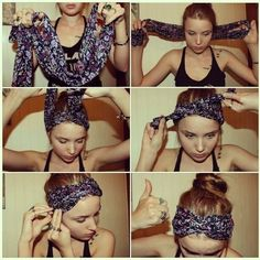 wrap for hair using scarf