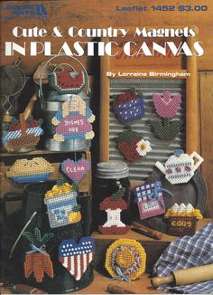 Cute & Country Magnets In Plastic Canvas by KnitKnacksCreations