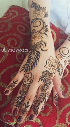 Finger Henna Designs, Arabic Henna Designs, New Mehndi Designs, Arabic Design, Henna Tattoo Hand, Henna Body Art, Henna Mehndi, Henna Tattoos, Mehendi