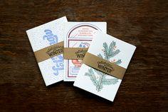 Celebrating winter | letterpress card collection on Behance