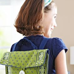 Sew a fun backpack that's both functional and stylish!Fabrics are from  the Soho Bandana collection for Red Rooster Fabrics [1] and the Crossroads  Denim collection for James Thompson [2], both by Amy Barickman.   [1] http://redroosterfabrics.com [2] http://jamesthompson.com