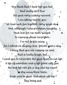 Pet Loss Poem Poem From my Dog Pet Remembrance Dog Loss Losing A Pet Quotes, Dog Loss Quotes, Pet Quotes Cat, Loss Grief Quotes, Pet Poems, Grief Poems, Dog Death Quotes, Dog Grief, Pet Loss Grief