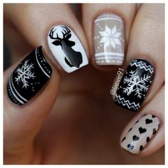Ready to decorate your nails for the Christmas Holiday? Christmas Nail Art Designs Right Here! Xmas party ideas for your nails. Be the talk of the Holiday party with your holiday nail designs. Christmas Nail Art Designs, Holiday Nail Art, Winter Nail Designs, Winter Nail Art, Winter Nails, Pink Nail Designs, Christmas Design, Cute Christmas Nails, Xmas Nails