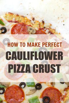 Cauliflower Crust Pizza | Six Sisters' Stuff