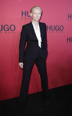 Tilda Swinton Clothes - Hugo Boss Show 2011