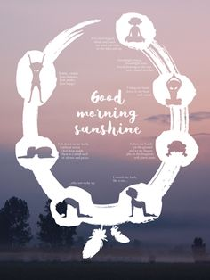Eng: Good Morning Sunshine Yoga Digital Poster