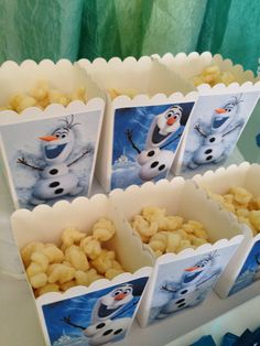 Disney Frozen Olaf Popcorn Boxes Olaf Treat by CreatedToParty
