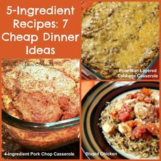 5-Ingredient Recipes: 7 Cheap Dinner Ideas - These all look SO amazing (and easy)!