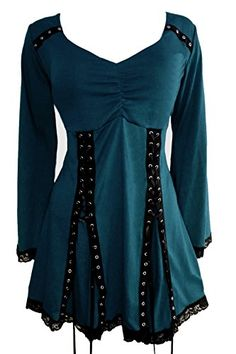 Dare To Wear Gothic Victorian Women's Plus Size Electra Corset Top Dark Teal 2X Dare to Wear http://www.amazon.com/dp/B019M18SGA/ref=cm_sw_r_pi_dp_CzE3wb17NB95G