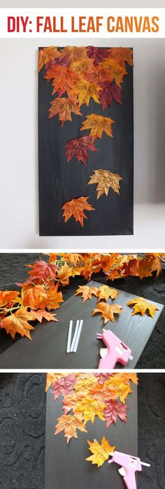 26 bunte DIY Fall Leaf Crafts Sie müssen diese Saison versuchen – Dekoration ideen 26 Colorful DIY Fall Leaf Crafts You Must Try This Season to Autumn Leaves Craft, Autumn Art, Diy Autumn, Leaf Crafts, Diy Crafts, Beaded Crafts, Adult Crafts, Art Diy, Fall Projects