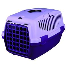 Trixie Cat / Dog Transport Box Capri 2 - 37 x 34 x 55 cm, Violet/Lilac Plastic Dog Kennels, Plastic Dog House, Small Pet Carrier, Dog Carrier, Capri, Rabbit Carrier, Dog Transport, Cat Crate, Dog Cages