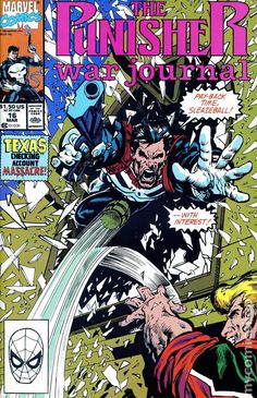 Punisher War Journal (1988 1st Series) 16  Marvel Comics Modern Age Comic book covers