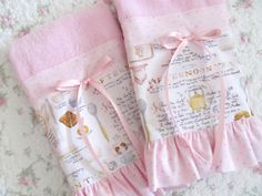 Your place to buy and sell all things handmade Guest Towels, Hand Towels, Tea Towels, Little Bit Of You, Branch Art, Fingertip Towels, Pink Fabric, Pink Satin, Some Fun