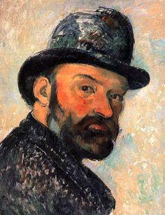 """""""Cézanne au chapeau melon (esquisse) - 1886"""" Self-portrait"""