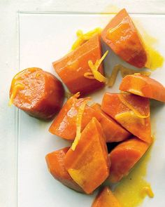 Glazed Carrots with Orange and Ginger by marthastewart #Carrots #Orange #Ginger