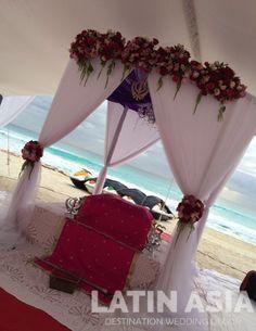#palki #brightpink #beach #destinationweddingscancun #destinationweddingsrivieramaya by @weddingcancun