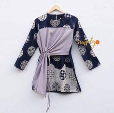 @simply2simply Frock Fashion, Batik Fashion, Women's Fashion Dresses, Hijab Fashion, Blouse Batik, Batik Dress, Girl Dress Patterns, Clothing Patterns, Blouse Models
