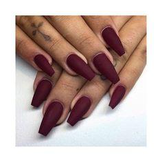 Matte burgundy nails for winter are SO gorgeous!! #newnails #nailinspiration #repost #burgundynails #nailgoals #darknails #mattenails #Regram via @kellyssalonmiddletown
