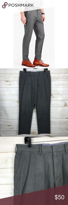 [J. Crew] Heather Gray Classic Fit Dress Pants • Lightly Used • Excellent Condition • Heather Gray • Cotton Twill • Classic Fit Collection • Belt Loops • 4 Pockets • 2 Button & Zipper Closure • Waist: 33ins • Inseam: 30ins • 100% Cotton J. Crew Pants Dress