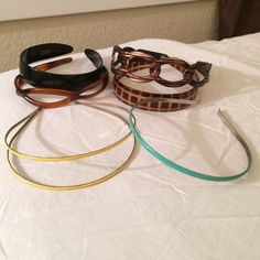 LEAP YEAR SALE!!!4 J Crew Headbands, 2 mis LEAP YEAR SALE!!!6 Headbands. Yellow, turquoise, black and square patterned ones are all J Crew. Other 2 are also well made for headbands. Open to offers! Will also sell separately or in smaller bundles. J. Crew Accessories Hair Accessories