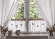 Zasłony na troczkach / Curtains / zazdrostki z sercami