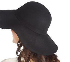 Luxe Rachel Zoe Wool Floppy Hat with Buckle Detail