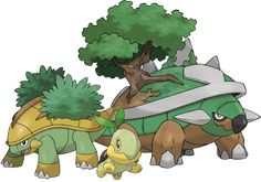 torterra, grotle and turtwig