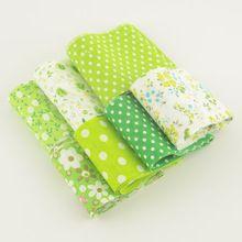 F033 # nuevas llegadas 100% tela de algodón quilting patchwork tela verde fija 7 unids/lote jelly roll tiras artesanías hechas a mano 5 cm x 100 cm(China (Mainland))