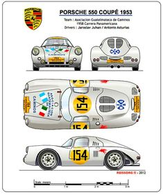 Automobiles 2 - Gerhal272 Porsche led Project 550 in view of the 1953 Le Mans 24 Hours race.