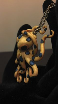 Deadly Blue Ring Octopus Polymer Clay by FancifulFabrications, $24.95