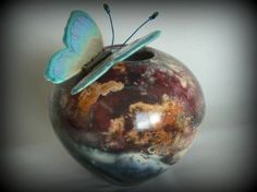 Pit Fired Pottery with butterfly attachment