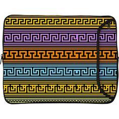 """#Business, #DesignerSleeves, #LaptopSleeves - Designer Sleeves 17"""" Designer Laptop Sleeve Greek Patterns - Designer Sleeves Laptop Sleeves"""