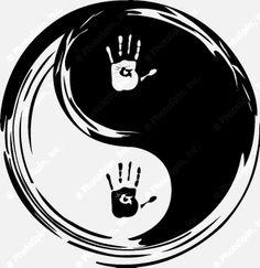 yin yang symbol balance of life   yin yang, heart adn hands