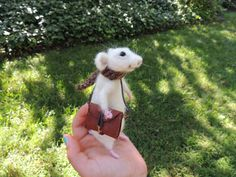 Needle Felted Rat by TheRatCorner on Etsy, $72.00
