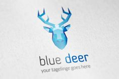 Blue Deer logo by vectorlogos89 on Creative Market