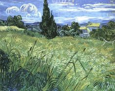 Vincent van Gogh (Green Wheat Field with Cypress)