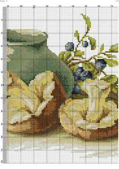 Cross Stitch Designs, Cross Stitch Patterns, Cross Stitch Kitchen, Pixel Art, Needlework, Embroidery, Crochet, Projects, Crafts