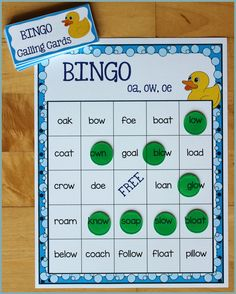 Activities for Teaching the oa/ow/oe Digraphs - Make Take & Teach Free Spelling Games, Phonics Games, Spelling Activities, Sorting Activities, Hands On Activities, Reading Practice, Teaching Reading, Words To Spell, English Phonics