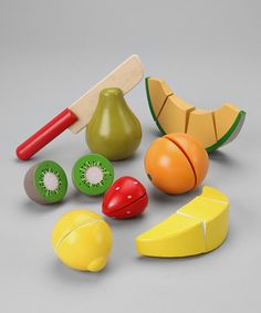 Take a look at this Cutting Fruit Crate by Melissa & Doug on #zulily today!