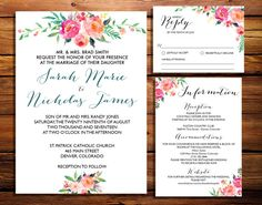 Printable Wedding Invitation Suite // Rustic by 1861PaperCompany