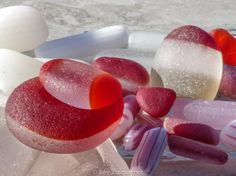 """$40  11x14"""" Print by author of The Sea Glass Rush, bevjacquemet@gmail.com  """"Sugary Sweet Sea Glass Treats ~"""""""